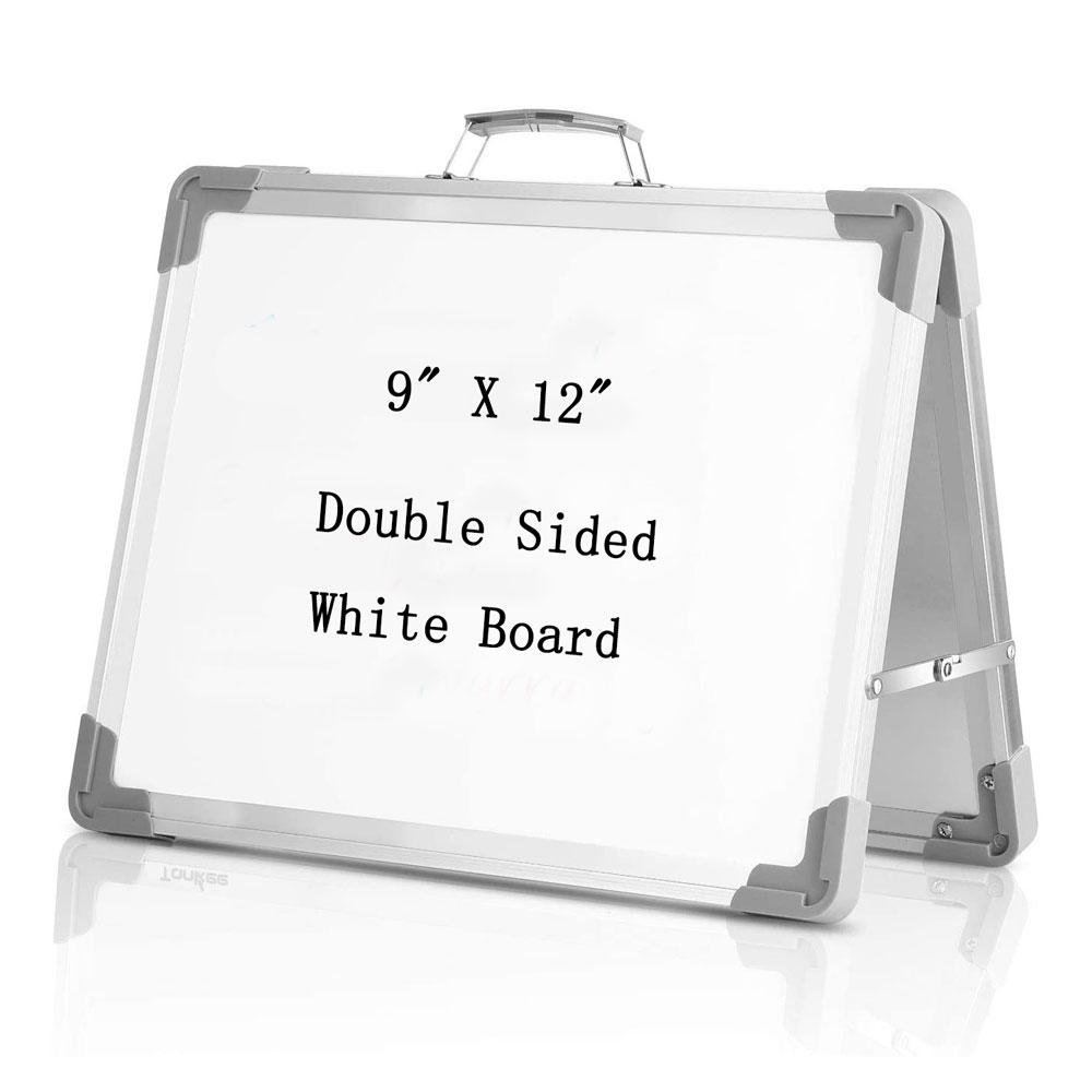 """9 """"X 12"""" Настольная Магнитная Складная белая доска портативная двухсторонняя мольберт маленькая сухая стертая белая доска для детей для домашнего офиса"""