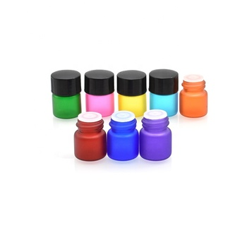 free sample colorful 1ml glass vials with orifice reducer black screw cap for essential oil perfume packing sample bottles 1ml