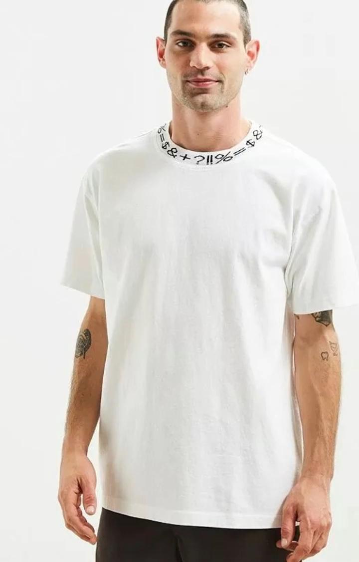 OEM custom jacquard ribbing neck mens top quality t shirt custom neck shirts