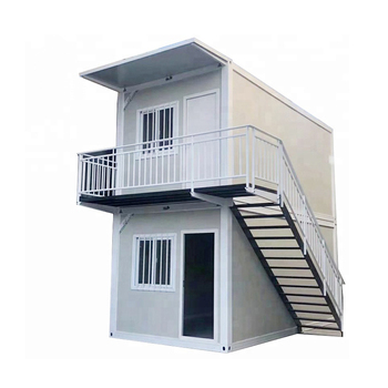 low cost 2 stories portable container house prefabricated homes