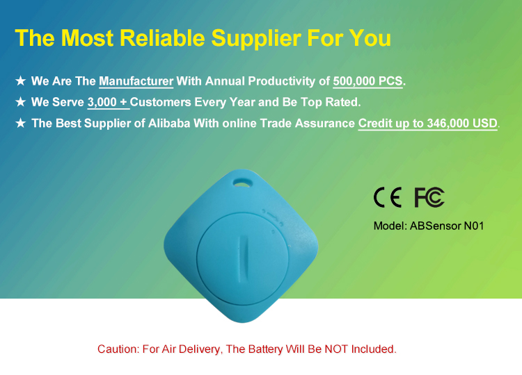 Programmable Bluetooth Tracker Lanyard Beacon and iBeacon With Accelerometer Sensor Motion Detector
