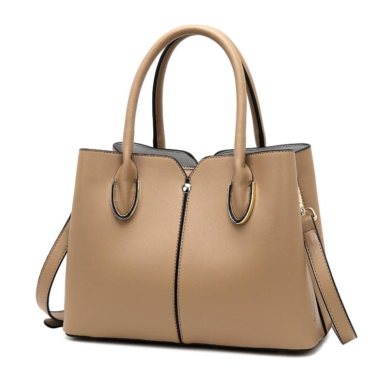 Женская элегантная сумка REALER, женская кожаная сумка, женская сумка через плечо, Большая вместительная сумка-мессенджер с ручкой сверху 2020(Китай)