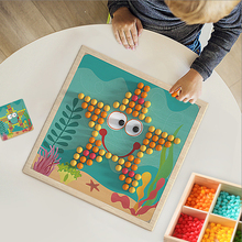 Pilz Nagel Spiele Mit Holz Lagerung Box Mosaik <span class=keywords><strong>Peg</strong></span> <span class=keywords><strong>Bord</strong></span> Kinder DIY Pädagogisches Spielzeug