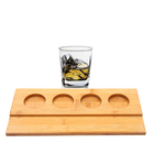Custom beer cup wood tasting serving tray holder with handle