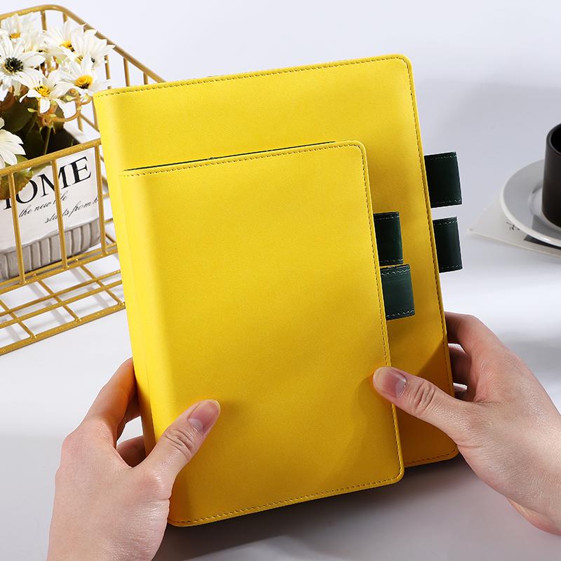 패션 PU 가죽 커버 리필 사용자 정의 6 링 바인더 A6 느슨한 잎 가죽 저널 일기 노트북 펜 홀더