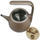 Food grade 304 Stainless Steel Small Home Appliances Tea Pot Set with Tray Modern Hot sale Healthy Mountain smart Kettle