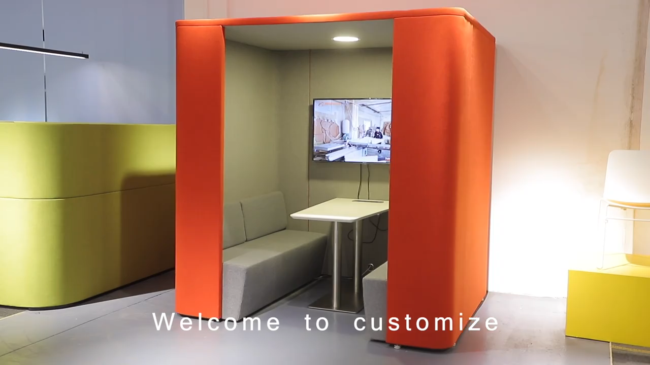 ハイバック独立したオフィス会議ポッドソファ近代的なオフィス家具