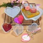 Silicone Molds Silicone Hearts Set Coasters Silicone Keychain Epoxy Crystal Resin Casting Molds