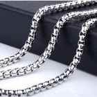 Graphic Customization Jewelry Chain 304 Stainless Steel Square Pearl Titanium Steel Jewelry Square Chain for Dog Tag