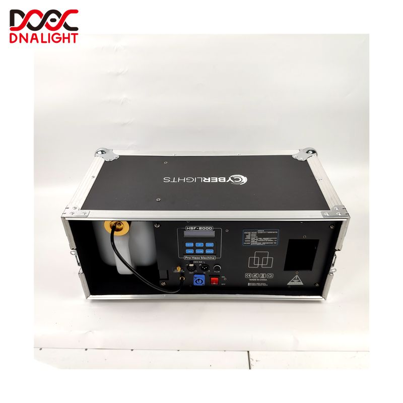 Pro Morning Haze Machine Dmx Afstandsbediening 2000w Haze Mist Rookmachine met flightcase voor Nachtclub DJ Power Disc