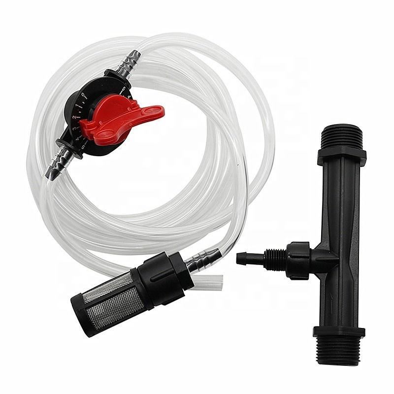 1//2 /& 3//4 Zoll Bewässerung Dünger Injektor Kit mit Wasserrohrschalter Filte