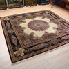 Anti-Slip Feature and Cow Hide Material bedrooms Round carpet handmade silk carpet