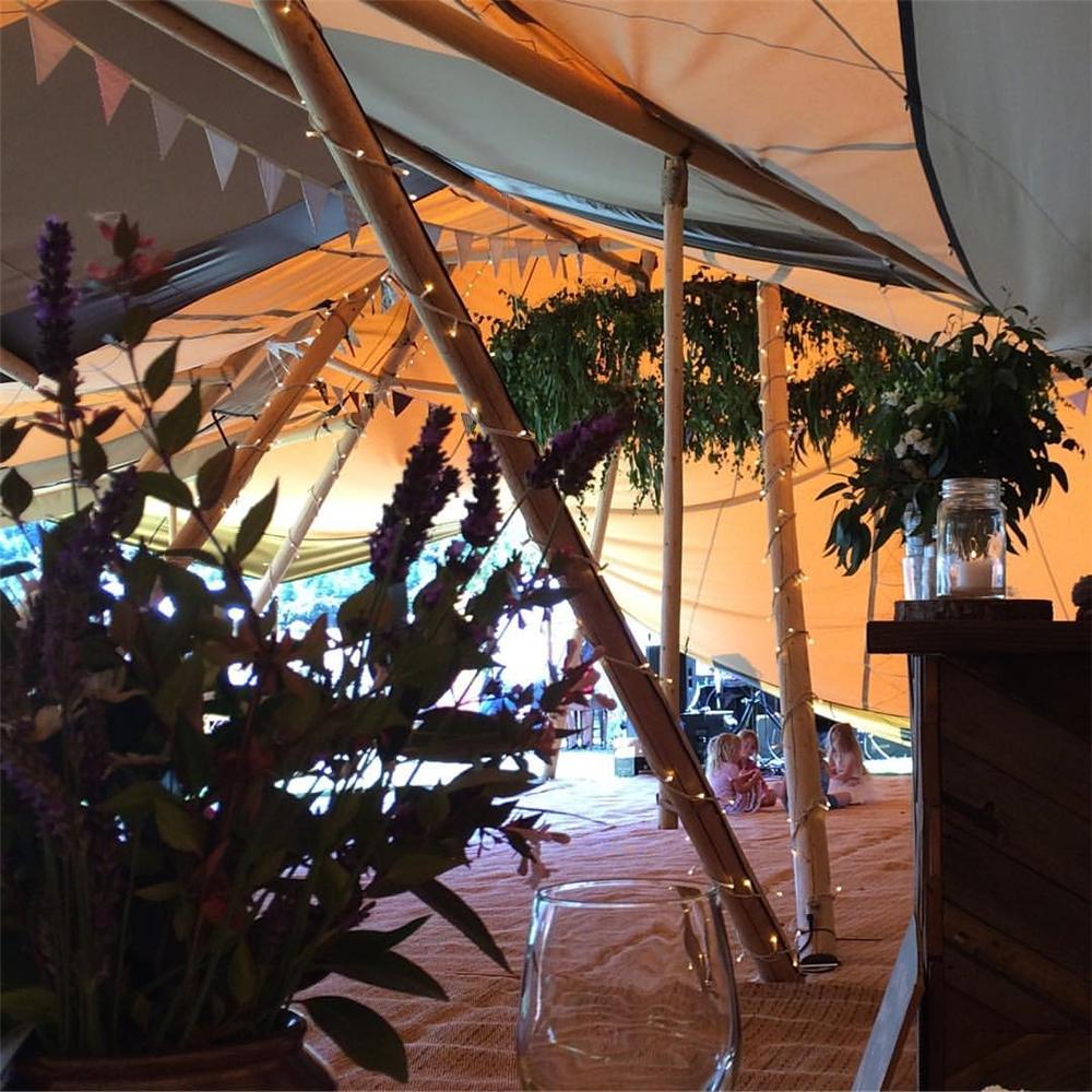 커스텀 100 사람들 좌석 나무 극 방수 대형 tipi 텐트 캠핑/인도 tipi 텐트/코튼 캔버스 tipi 텐트