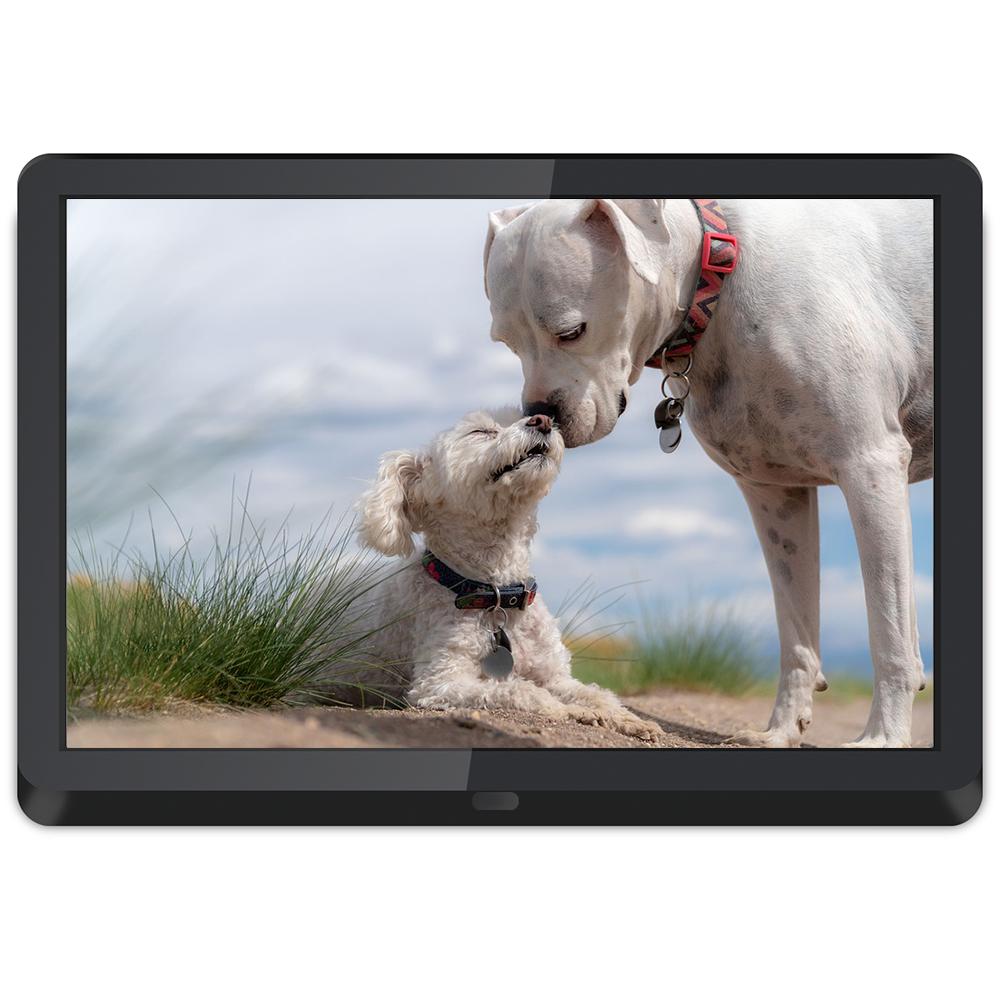 auto slideshow 10 inch white IPS display electronic photo frame advertising screen