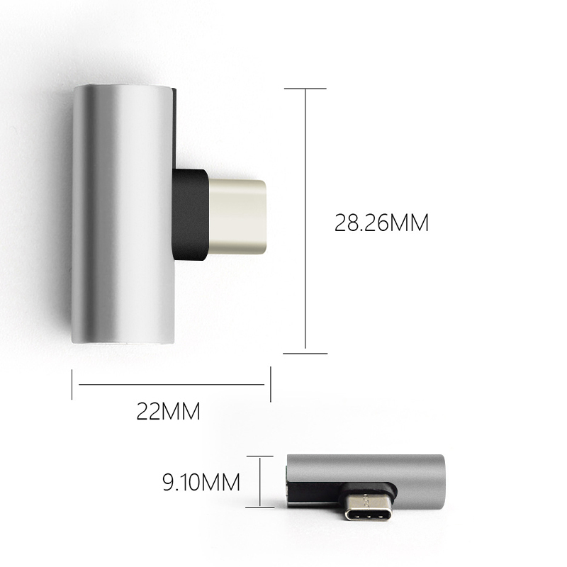 USB Type C male to 3.5mm Jack Earphone Adapter Cable AUX Audio For Xiaomi Mi 6 6x Type-C Fast Charge for Huawei P20 nova 4 3 3i
