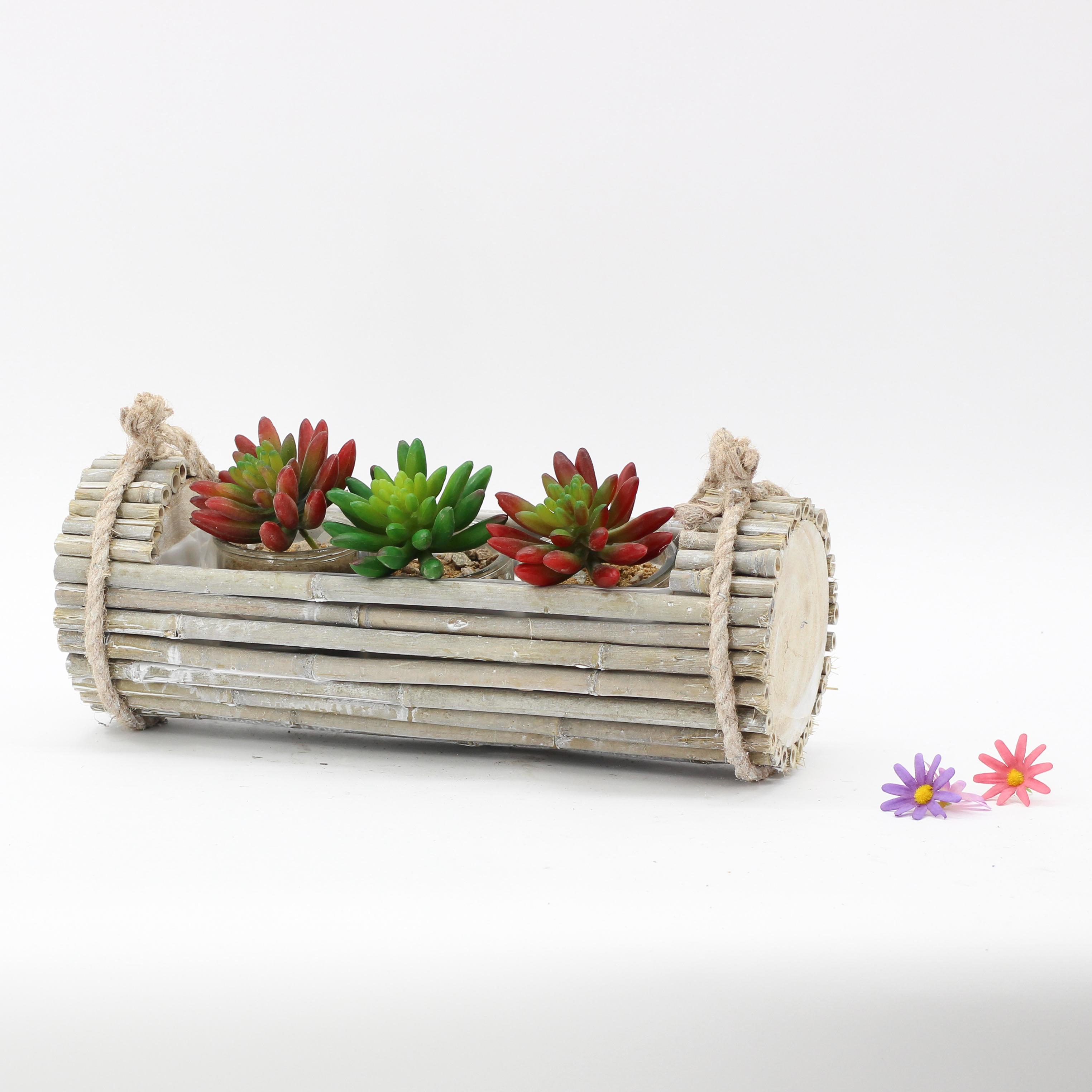Maceta de madera para plantar en casa