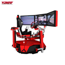 Yonee 3 Monitor Virtuelle Realität Motion Simulator Auto/Horse Racing Spiel