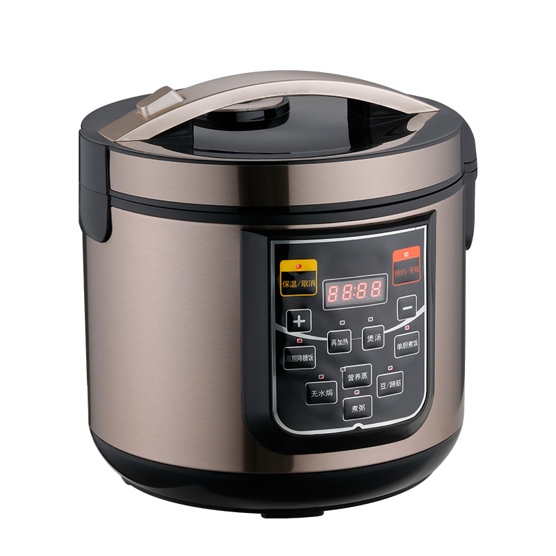 304 Double Gallbladder Stainless Steel Intelligent Multi-Functional Household 5L Hypoglycemic Cooking Rice <strong>Cooker</strong> <strong>Electric</strong>