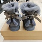 Ladies Sheepskin Boots New Hot Sale Wholesale Fashion Ladies Sheepskin Women Winter Snow Ribbon Fur Boots With Bows