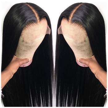 Cheap Raw Brazilian Virgin Human Hair Lace Front Wig Vendor 4x4 5x5 Full HD Swiss Lace Frontal Closure Wig For Black Women