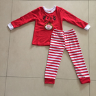 Fashion baby winter Santa outfit kids clothing rts children clothes in stock