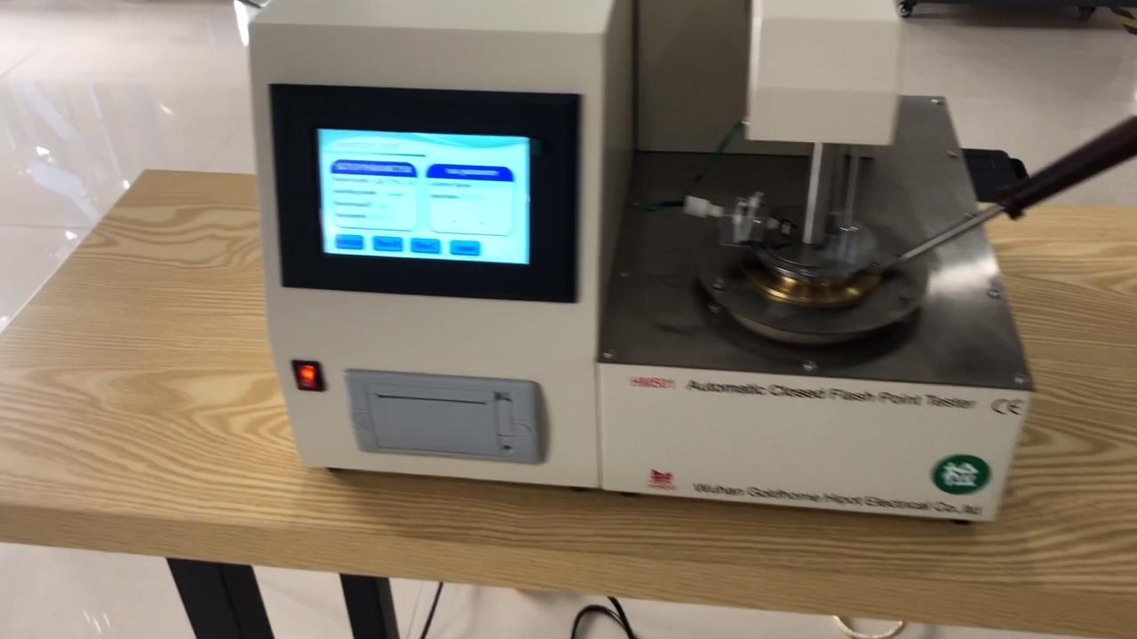 HM501 Detectie Opening Ontsteking Alarm Cooling Afdrukken Volautomatische Gesloten Cup Vlampunt Meter
