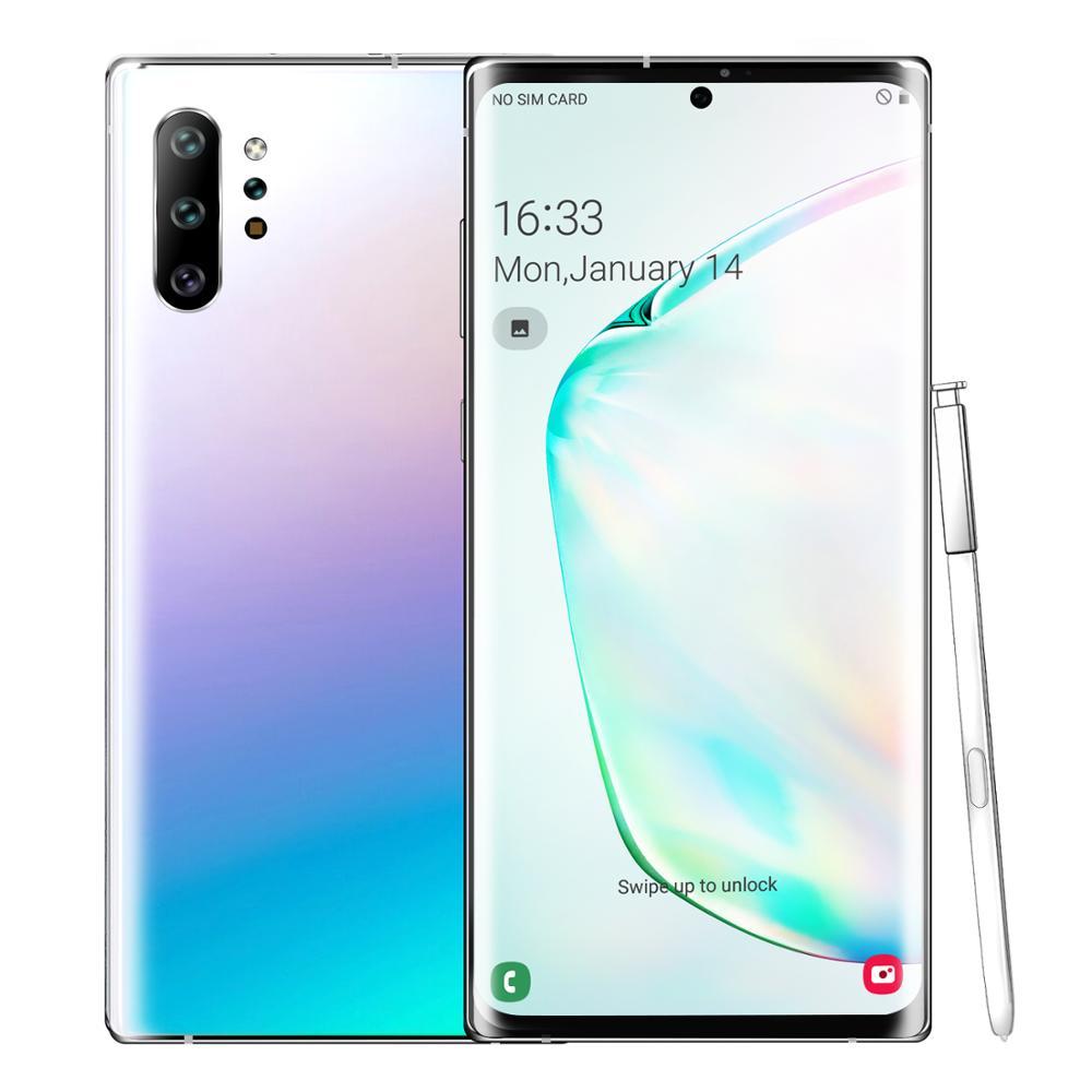 Büyülü alacakaranlık Note10 + 6.5 inç akıllı telefon kilidi 128GB 6GB RAM Android 9.0 cep telefonları çift SIM cep telefonu