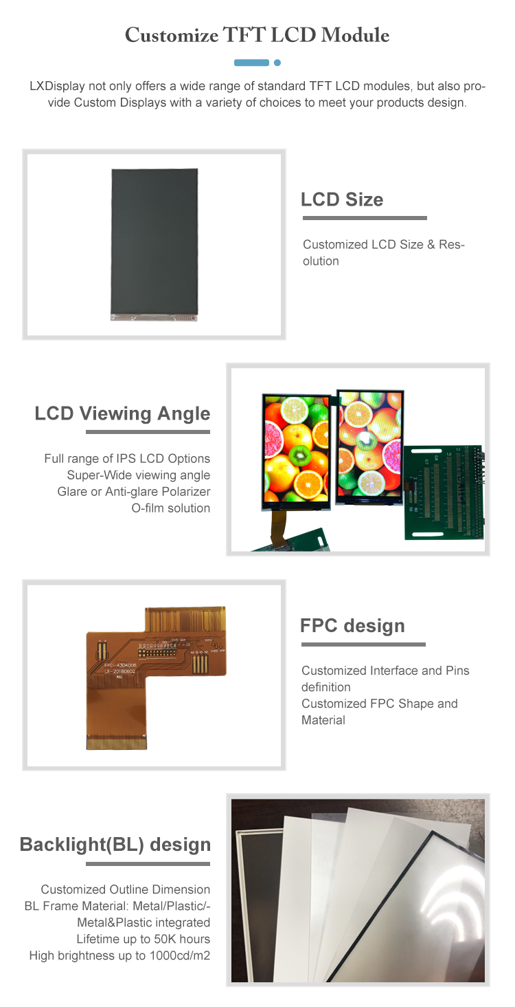 3.5 inch Industrial grade RGB  interface touch screen panel lcd display panels, 320*240 landscape screen with high luminance
