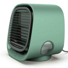 Мини-вентилятор для охлаждения воздуха, настольный мини-кондиционер с ночным светильник, мини-USB вентилятор для охлаждения воды, очиститель...(Китай)