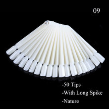 1 Набор накладных насадок для маникюра, демонстрационные веерообразные съемные искусственные накладные палитры для ногтей, натуральные пр...(Китай)