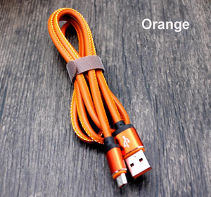 usb data cable 2.1A for iphone usb cable data transfer  cable leather micro usb type c 3.3FT