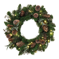 Hanging door decoration pvc tinsel christmas decoration wreath