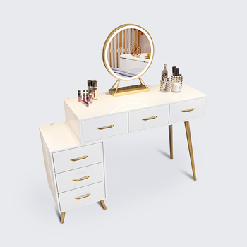 Hot selling Modern Simple Designs Light Luxury Dressing Table Gold Frame Dressing Table for sale