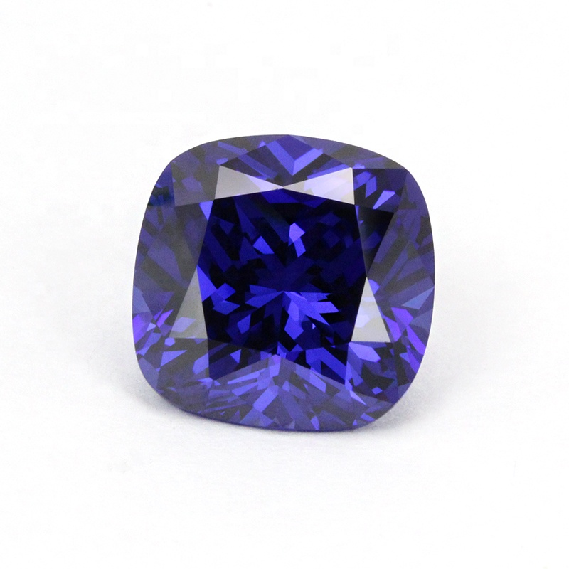 Wuzhou gems AAAAA Tanzanite 5*5-9*9mm loose cubic zirconia stones cushion cut for jewelry