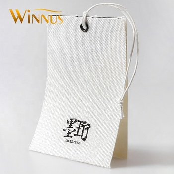 custom design logo printed cloth fabric swing ticket cotton hangtag canvas hang tag