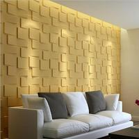 500*500mm Environmental PVC 3D Wall Panels for Interior and Exterior