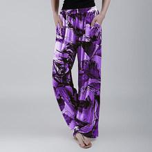 Женская шелковая пижама, Повседневная Свободная Пижама с цветочным принтом длиной до щиколотки, Сексуальная кружевная домашняя одежда для ...(Китай)