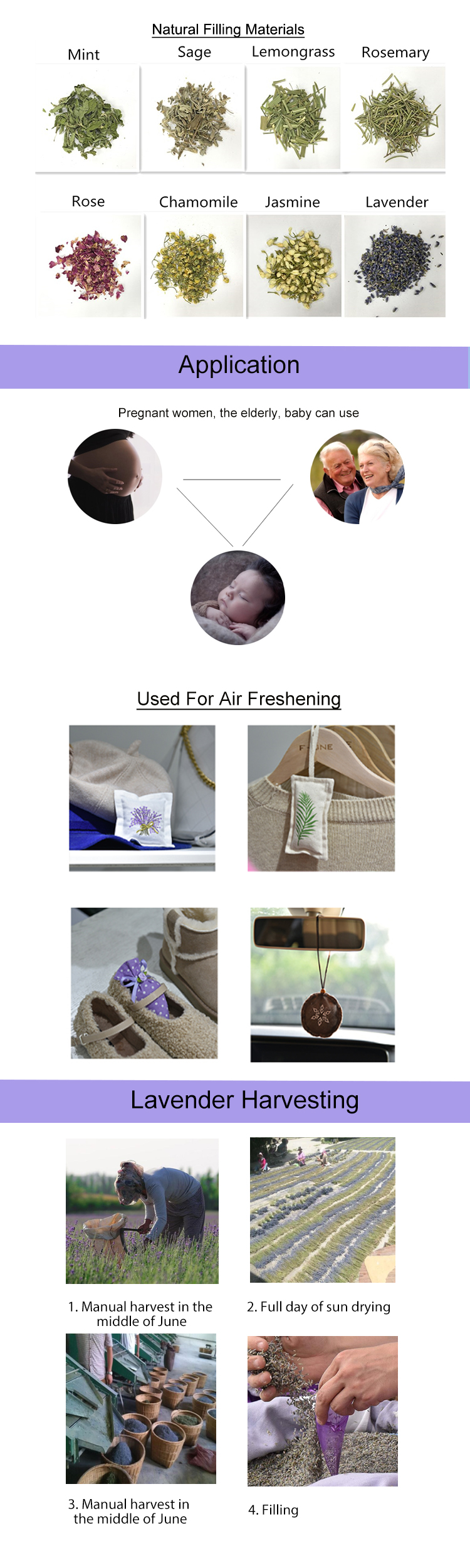 Custom private label new design pure aroma air freshener clothes scent sachet for home