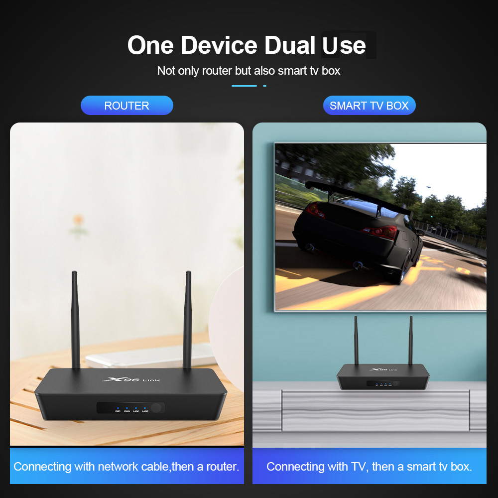 New Arrival OTT TV Box 4K Android 7.1.2 OS TV Box X96 Link Mini Media Player