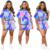 Women fashion two piece tie-dyed casual sports sets