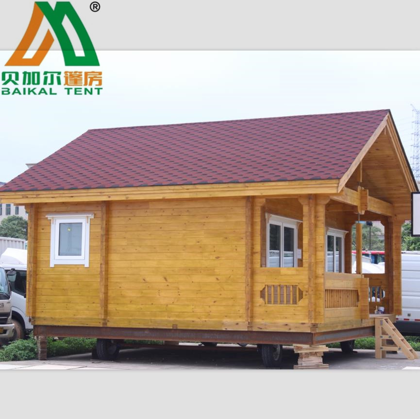 42sqm 1 living room1 bed room small wooden house prefab log house