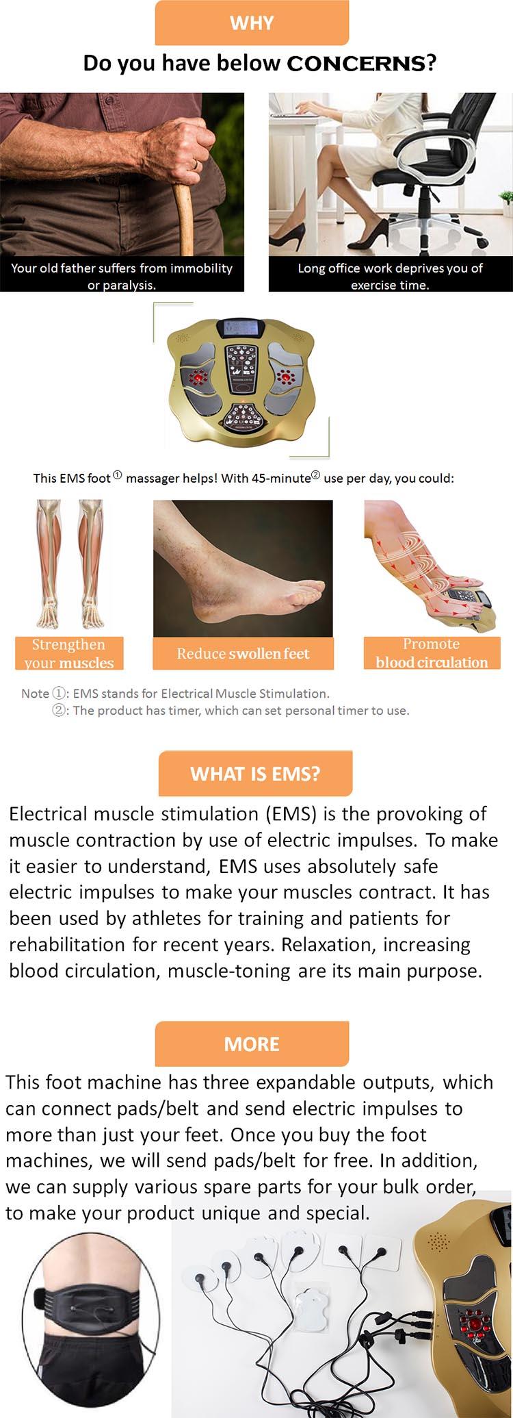 Low Defekt Gesundheit Fußpflege Kalb Muscle 220V Fuß Massager