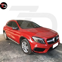 GLA45 Style Body Kit With Main Grill Side Skirts Bumpers For Mercedes GLA Class W156 gla 200 220 260 2015-2019
