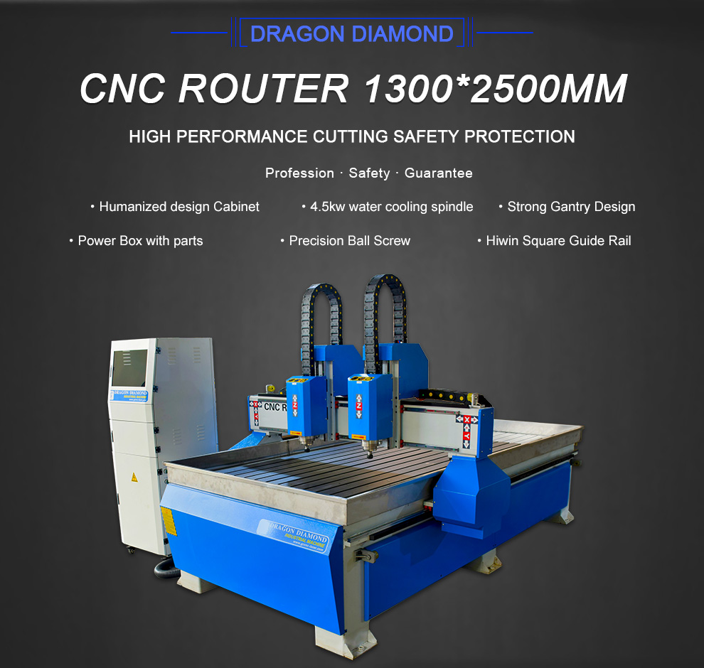 Double Heads 1325 CNC Router