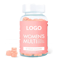 Private Label Women's Hair Gummies Multi Vegan MultiVitamin with Omega-3, Folate, Vegan Collagen Booster Blend
