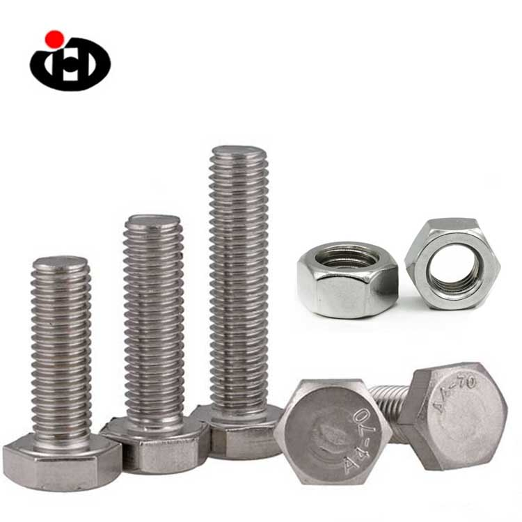 Hot Sales Hardware Fasteners Stainless Steel Hex Bolt And Nut