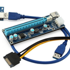 2019 New Pcie riser with 4 capacitor and 6 pin power connector PCI E riser card for mining bitcoin
