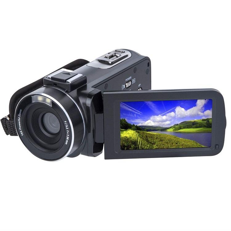 2.7K FHD DV 3.0 Inci IPS Layar Sentuh Kamera Perekam Video 18x Zoom Digital Output