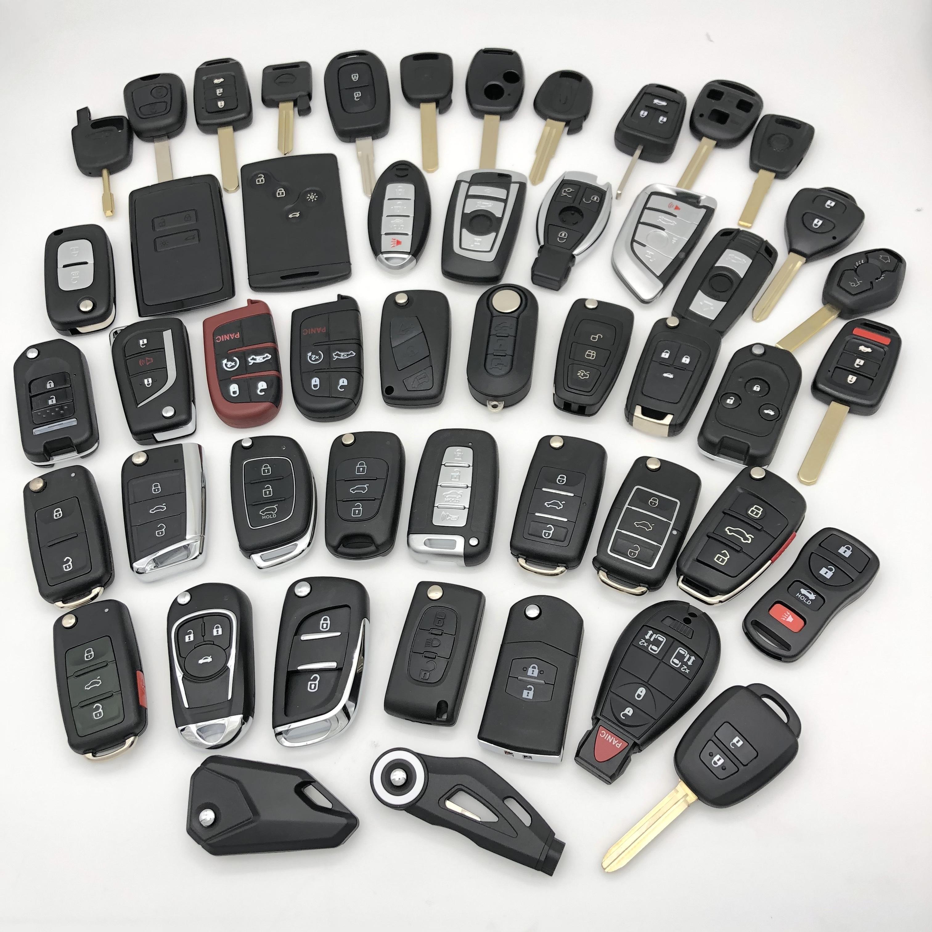 Auto Car Vehicle Motor Motorbike Flip Transponder Smart Key Blank Shell For Aftersales Refit Market