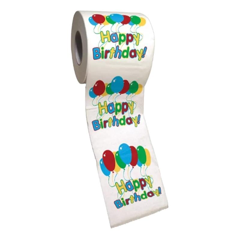 Rouleau de mouchoirs personnalisés, papier de toilette, vente en gros, usine, prix de gros, cadeau amusant et divertissant d'anniversaire, faire des farces